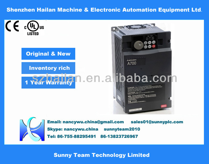 mitsubishi A700 Series FR-A740-185K VFD Drives 185kw inverter