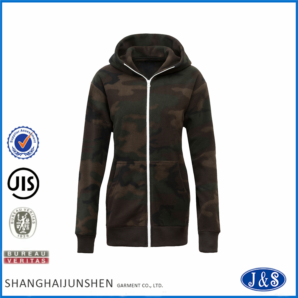Men's Zipper-up Printing Fleece Hoodie