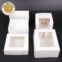Cube snacking box,Boite patissiere banche,Boite patissiere decoree