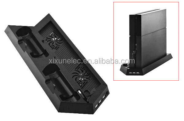 Dual cool vertical console stand controller charging stand for PS4