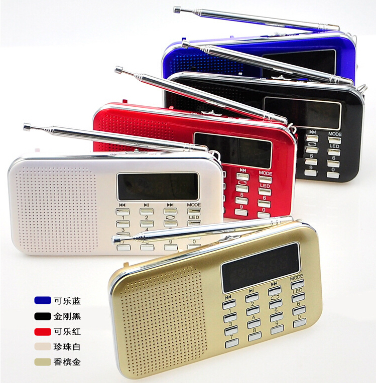 High quality Digital usb mini fm radio with mp3 player gift promotion L-218