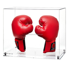 hot selling Clear Acrylic lucite Boxing Glove Display Case, perspex boxing glove show box with lid