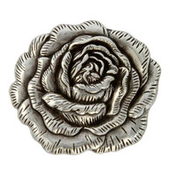 Antique Silver Rose Concho