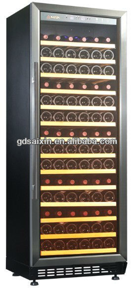 108 bottle built-under stainless steel beer and wine cooler SRW-128S/12 Volt Compressor Refrigerator