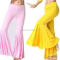 Wholesale Casual Fashion Cotton Super Soft Belly Dance Costume Bell Bottoms For Stage Dance Yoga Performance Wear