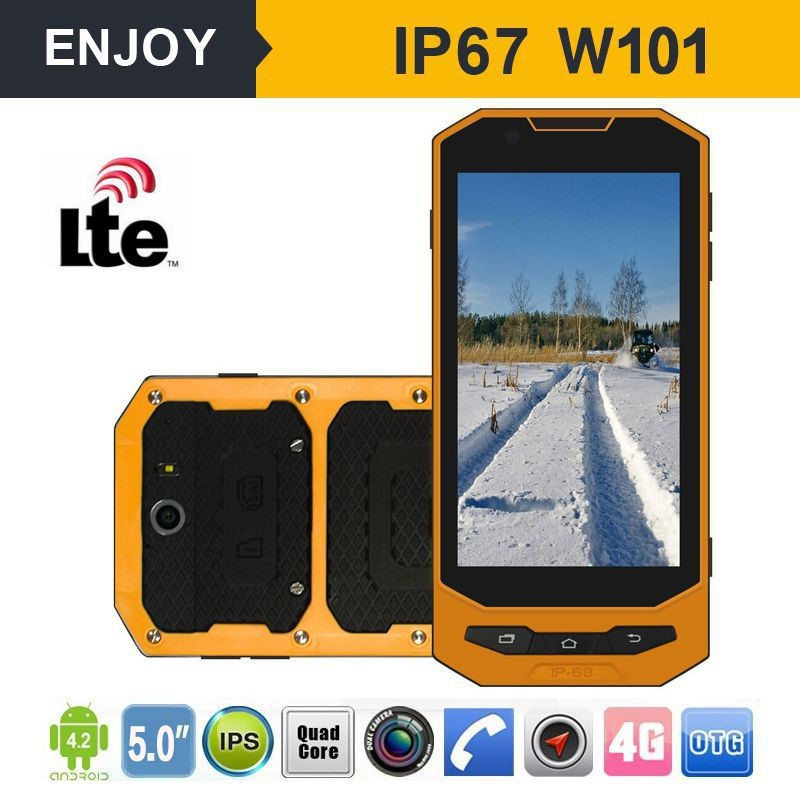 5'' NFC rugged IP67 mobile phone 4g 3g cdma gsm dual sim mobile phone