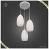 Unique fashion designs led glass pendant light single or three heads