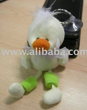 Mini Plush Toy And Mini Plush Duck Soft Legs Mobile Phone Dangler