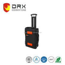Ningbo Everest RPC2323 Trolley plastic tool case hard PP plastic EVA foam box instruments military tool case