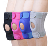 Wholesale knee protector open patella sports adjustable knee support sleeves with silicone gel donut
