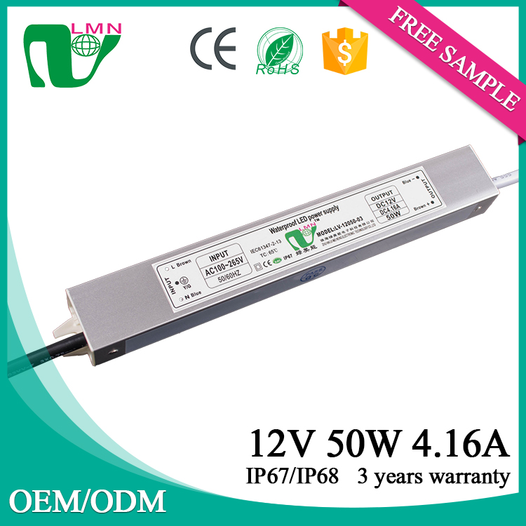 12V 50W constant voltage mini led driver with CE