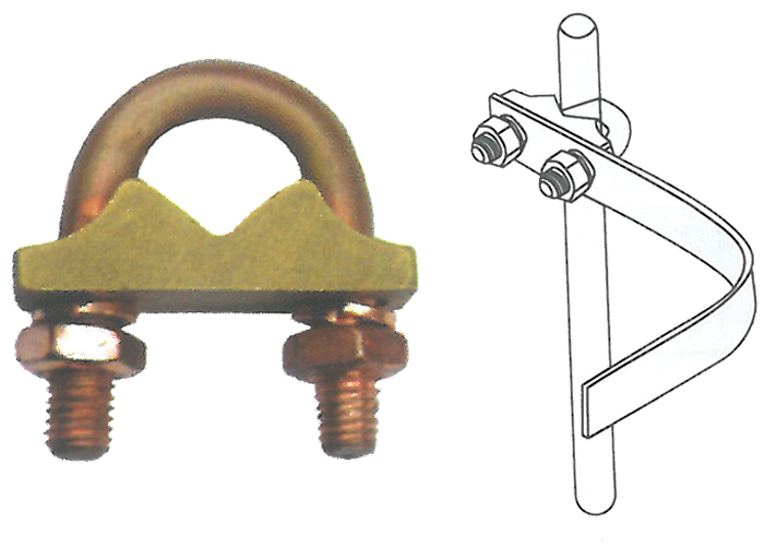 Anti-corrosion Earth Rod Clamp Brass U-Bolt Clamp