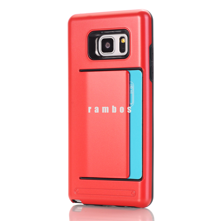 Super Protective Hard Back Cover Case for Samsung Galaxy note 3 note4 Phone Accessories with Credit Card Pocket
