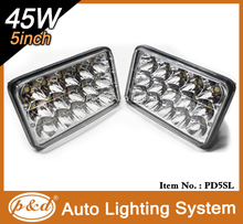 Premium quality high intensity sealed beam healight PD5SL 45W headlight 4x6 inch led headlight for jeep truck