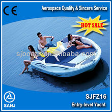 SANJ 2014 new model jet ski small fiberglass boat SJFZ16 with high quality for sale