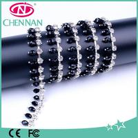 Crystal glass rhinestone cup chain trimming for doll dress up jewelry accessory