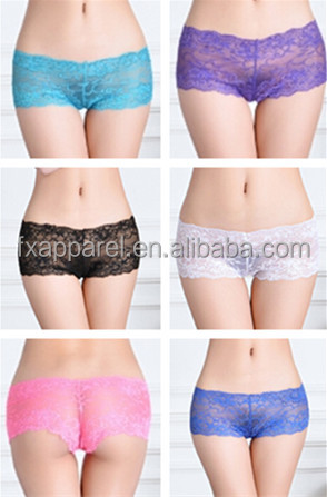 M,L,XL,XXL mixed lace panties for women mixed color lace boyshorts