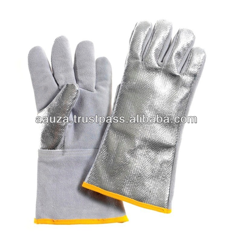 Welding gloves with aluminium Back