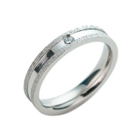 Stock Wholesale Lot Cheap Stainless Steel Jewellery Simple Design Dull Polish Frosted Ring