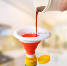 Creative products cooking silicone collapsable mini funnel