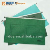 New style Kraft Paper Hanging File Folder with Plastic Tab