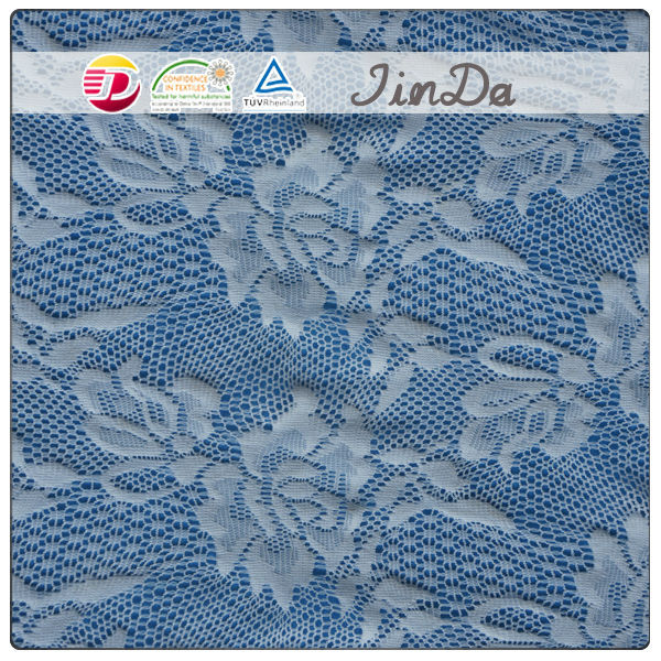 Nylon spandex jacquard raschel lace fabric with new design