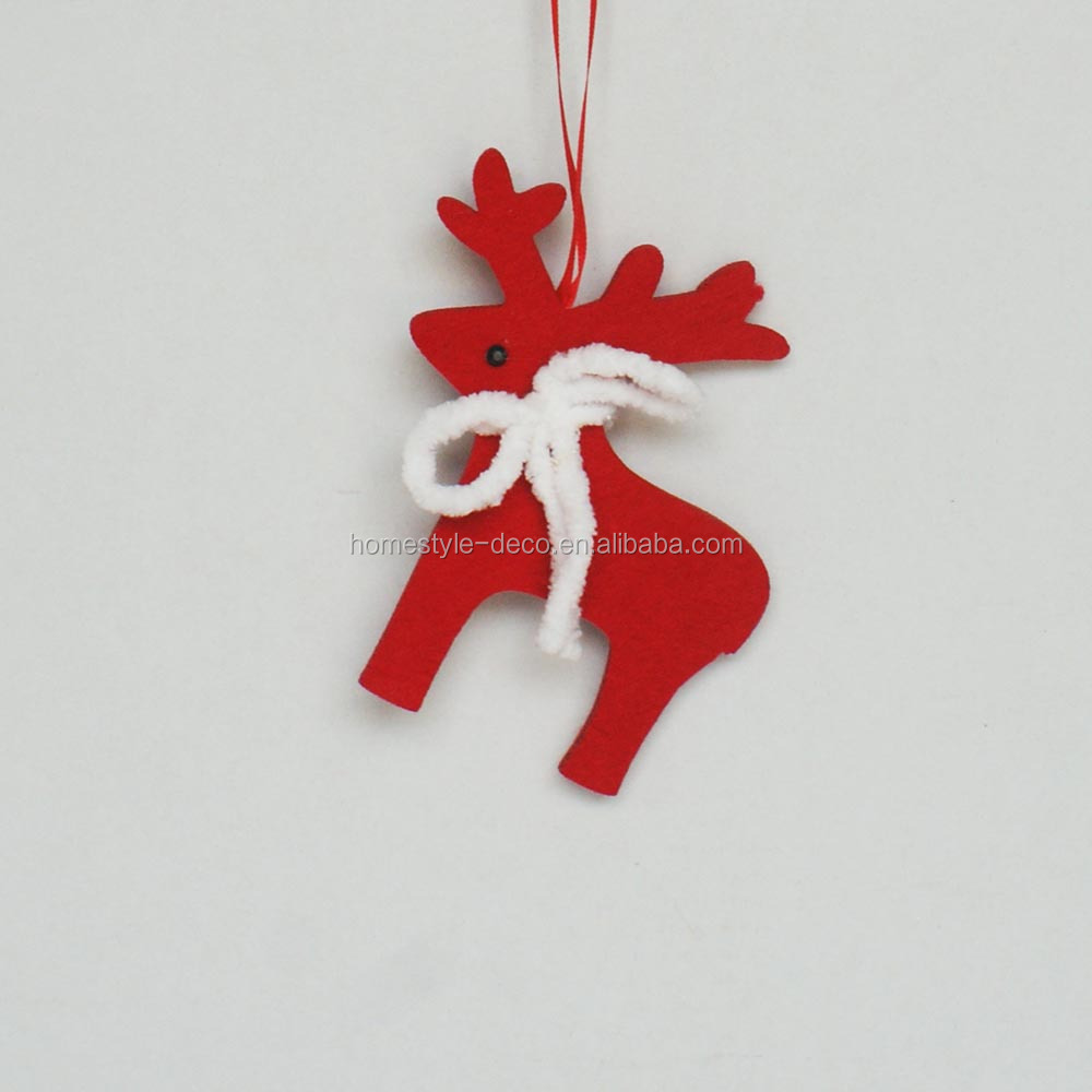 Christmas decoration xmas tree ornament 13cm felt hanging deer