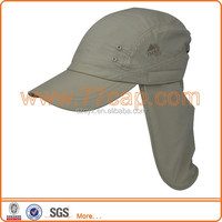 outdoor sportc back neck sun shade flap hat cap ,hot selling cap with neck cover