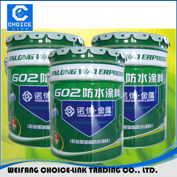 Environmental 20kg/barrel polymer cement PU waterproof coating