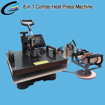 Multifunction combo 4 in1 heat press transfer machine sublimation printing for mug T-shirt hat plate transfer machine