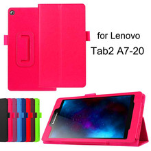 Cellphone TPU Cover 7 inch Tablet Stand Case For Lenovo Tab 2 A7-20 Slim Red