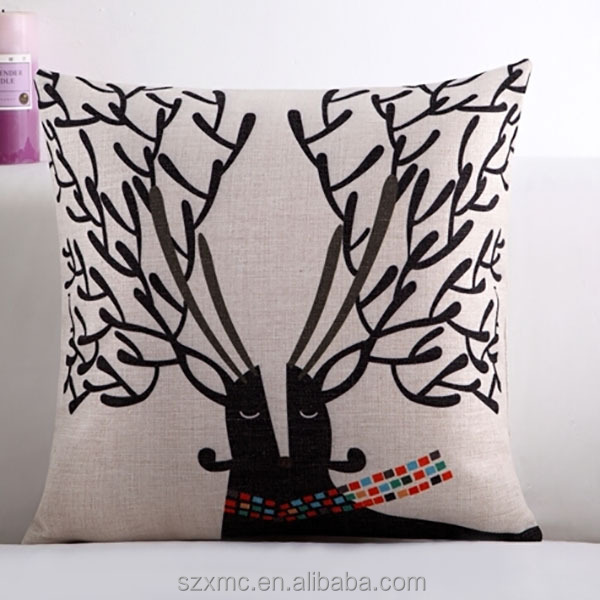 Custom 35*35 icanvas/linen/cotton fabric printed throw pillow cover, 35*35 cushion cover