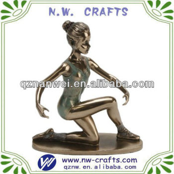 Resin sculpture naked dancing statue