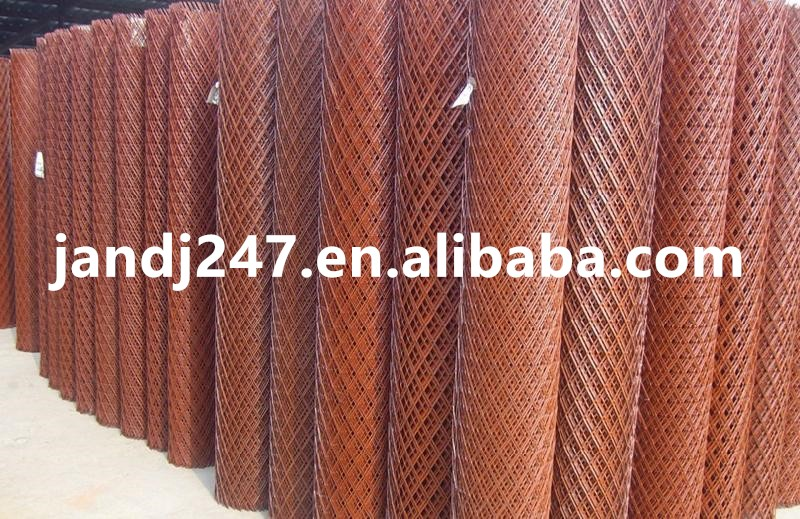 Red Painting Expanded Wire Mesh from China Factory