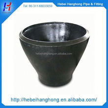 astm b16.9 thick wall carbon steel black pipe fitting eccentric butt welded reducer