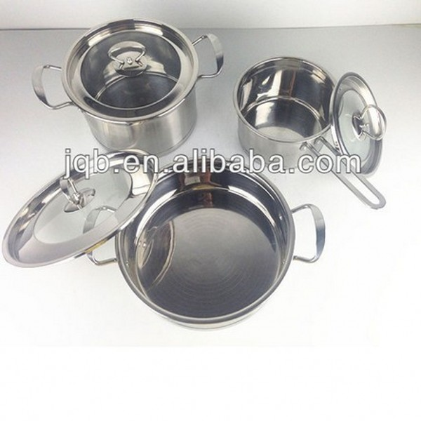 6pcs high quality professional stainless steel cookware