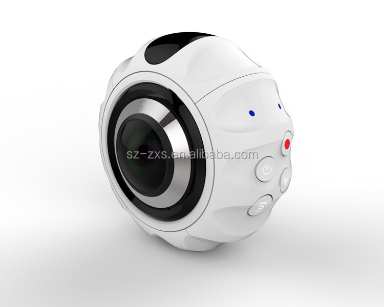 "Private model Dual lens 360 degree action camera 0.96"" OLED 2K 30fps 7G Fish-eye Lens VR Camera"