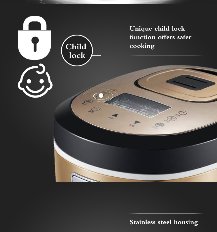 zhongshan factory 900W digital multi function electric rice cooker