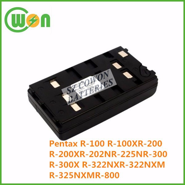 replacement battery for Pentax R-100 R-100X R-200 R-200X R-202N R-225N R-300 R-300X R-322NX R-322NXM R-325NXM R-800 BP02C MB02