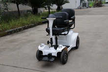 Electric dual seat disabled mobility four wheel scooter for adults