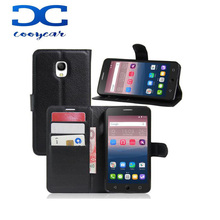 Wallet Flip Leather tpu Case With Card Slots Stand Holder Cover For Alcatel One touch Pop Star 3G 5022D PIXI First IDOL X+