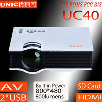 2015 Newest 800*480 1080p support UC40 china pico projector, entertainmet projector,china hot projector