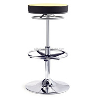 New Brown Fabric Mordern Bar Stools with Footrest Bar