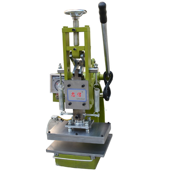 high quality manual leather logo embossed hot stamping machine