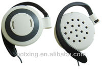 White and black earphone plastic earring hooks earpiece