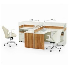 Modern office table partition with locking drawers