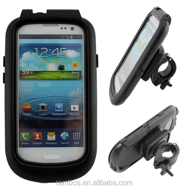 Adjustable Mobile Phone Holder Waterproof Bike Cover Case for Samsung Galaxy S3 i9300