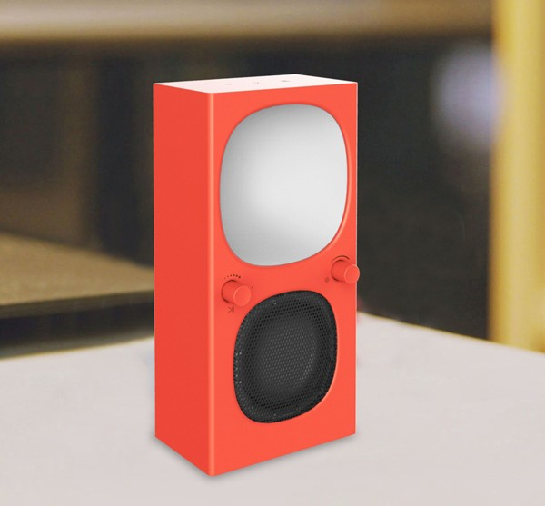 Modern design sensitive touch Bluetooth wireless Speaker with colorful light