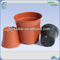 "new product for 2014 colorful plastic flower pots stand 3""/4""/6"""