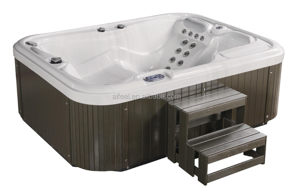 Aifeel 2016 new product Balboa Control System Acrylic massage portable 3 person indoor hot tub with 2 lounges